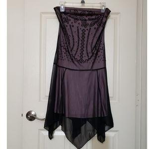 💜Women's black dress Strapless dress pink dress